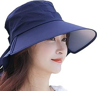 【Hat Trust】サンバイザー レディース ハット 日焼け 防止 対策 つば広 ネックカバー コットン uvカット 帽子 春夏 自転車