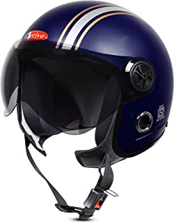 ACTIVE JET STICKER Open Face Helmet (BLUE, MATT)
