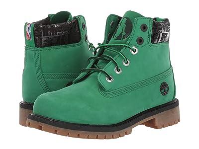 Timberland Kids 6 Premium Waterproof Boot Boston Celtics (Little Kid) (Medium Green Nubuck) Kid