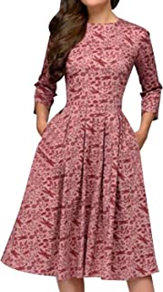 MINTLIMIT Damen 1950er Vintage Retro Cocktailkleid Rockabilly Kleider Petticoat Faltenrock Festliche Party Kleider
