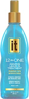 IT 12-in-ONE Amazing Leave In Treatment Spray | Keratin Enriched, Hydrates, Smoothes and Nourishes Hair | Parabens Free, 10.2oz