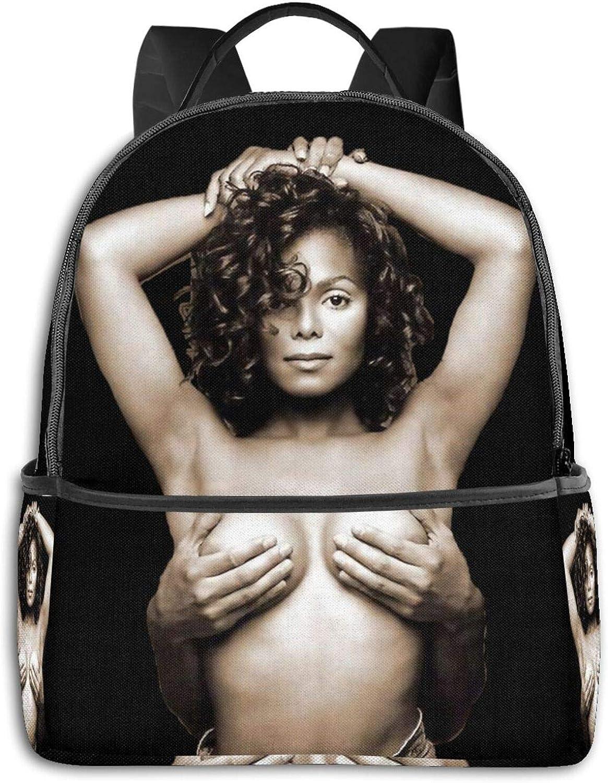 free Janet Jackson Backpack Direct sale of manufacturer 3D Full-print Schoo Campus