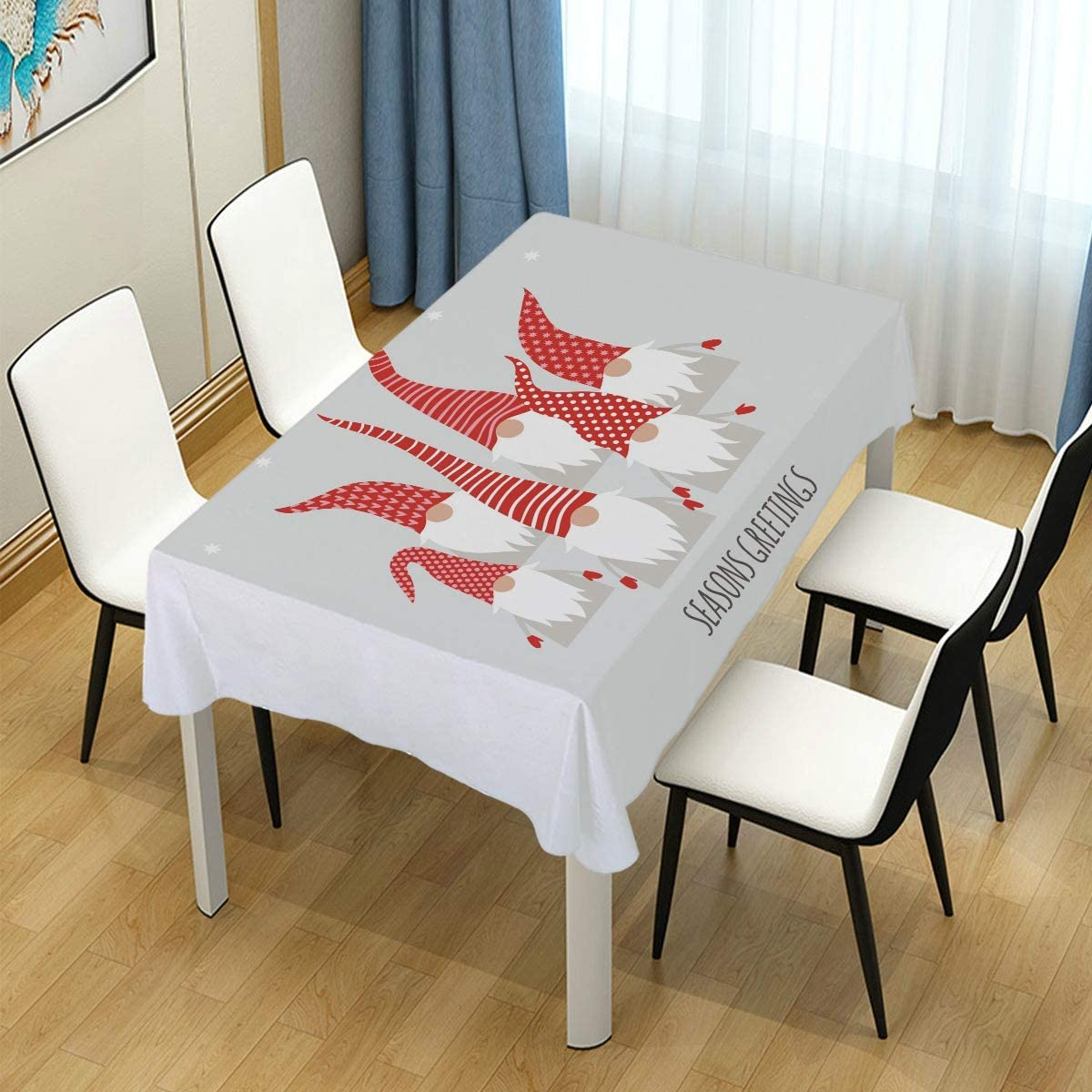 AGONA Rectangle Tablecloth 送料無料 Christmas Cute Little 評価 Gnomes Tableclo