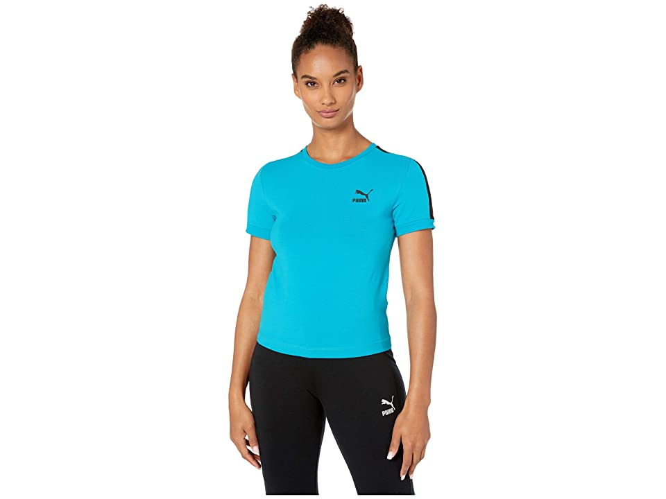 PUMA Classics Tight T7 Tee (Caribbean Sea) Women