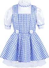 CHICTRY Toddler Girls Kids Deluxe Princess Cosplay Costume Sequin Plaid Halloween Party Dress up