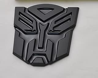 Transformers Autobot Car Black Badge Emblem 3D Logo Small