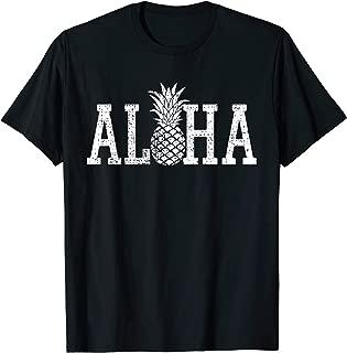 Aloha T Shirt Hawaii Hawaiian Pineapple Beach Vacation
