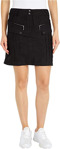 Micro Crunch Textured Skirt with Shortie Separate
