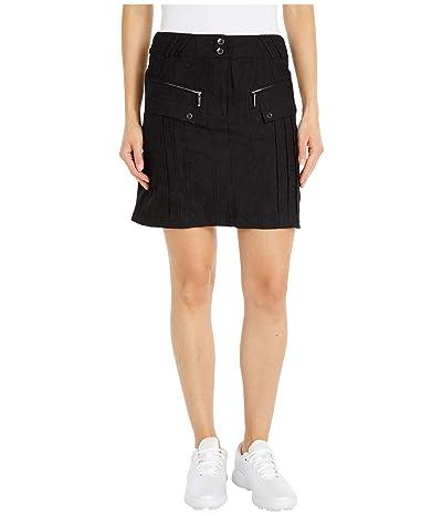 Jamie Sadock Micro Crunch Textured Skirt with Shortie Separate (Jet Black) Women