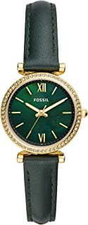 Fossil Women`s Carlie Mini Stainless Steel and Leather Quartz Watch