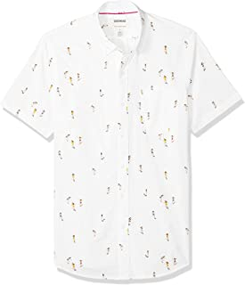 3eae36eb3 Amazon Brand - Goodthreads Men's Slim-Fit Short-Sleeve Printed Poplin Shirt