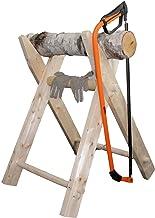 galleryy.net Hochzeits-Baumstamm sägen als Komplett Set inkl. Säge-Bock, Bügelsäge, Stamm aus Holz, Handschuhe Hochzeitsspiel für das Brautpaar