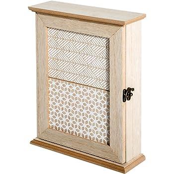 HOMCOM Caja Llavero de Pared Tipo Armario de Madera para Llaves con 6 Ganchos Estilo Vintage 20x6.5x26.5cm: Amazon.es: Hogar