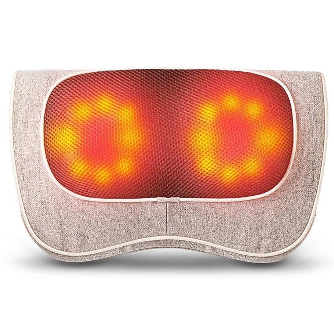 議論する頭蓋骨幼児AIWO電子ネックマッサージ ネックマッサージャーディープティッシュ| ボディーショルダーバックネック治療上の痛みを和らげるための熱指圧3D混練クッション