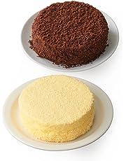 【Amazon.co.jp限定】 ルタオ (LeTAO) チーズケーキ 奇跡の口どけセット (ドゥーブルフロマージュ ショコラドゥーブル) 4号12cm 2個 ホワイトデー