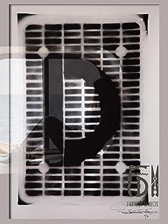 Serie Reflejismo Letra D ABC Hort de Fabio De Minicis - Impresión digital Póster 50 x 70 cm (sin enmarcar)