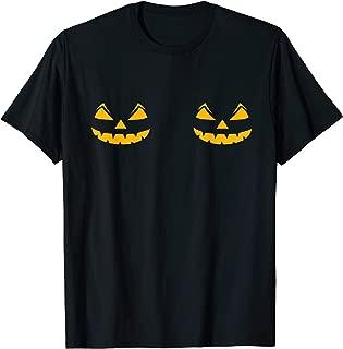 Funny Skeleton Boobs Halloween Costume Pumpkin Gift Women T-Shirt