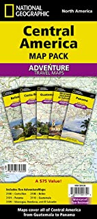 Central America [Map Pack Bundle] (National Geographic Adventure Map)
