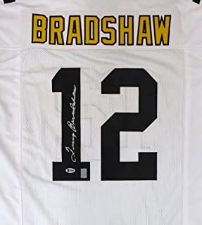2fb36e4fc Pittsburgh Steelers Terry Bradshaw Autographed White Jersey Beckett BAS