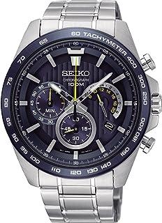 Seiko Men's 44mm Steel Bracelet & Case Quartz Blue Dial Analog Watch SSB301P1