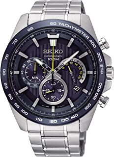 Seiko Men's 44mm Steel Bracelet & Case Quartz Blue Dial Analog Watch SSB301P1