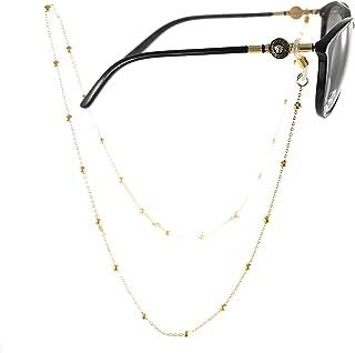 Cadenas para lentes - Sujetador de lentes - Cadena de bolitas - Chapa de Oro Calidad Premium - Elegantia Jewelry