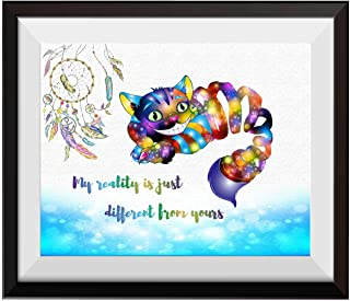 Uhomate Alice in Wonderland Cheshire Cat Alice Wonderland Home Canvas Prints Wall Art Baby Gift Inspirational Quotes Wall Decor Living Room Bedroom Bathroom Artwork C022 (11X14)