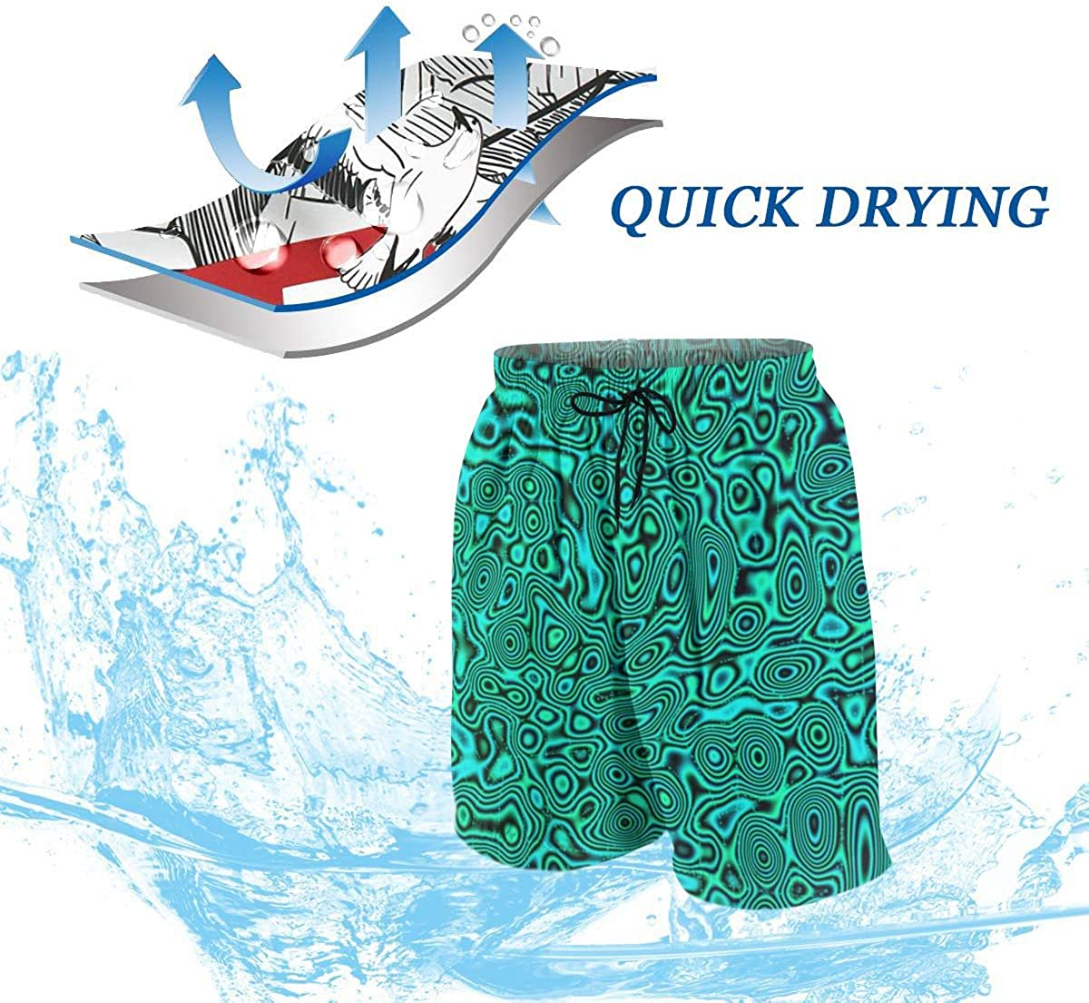 NiYoung Extreme Comfort Swim Trunks Big & Tall Half Pants for Men Boy Fast Dry Sportwear