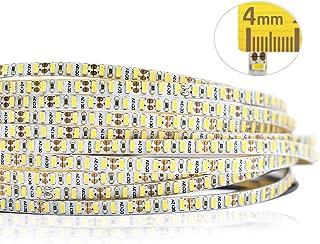12VDC 4mm/0.16inch Wide Ultra-Narrow Flexible LED Strip Lights, 990 LEDs/roll CRI 85 SMD 3014 Non-Waterproof LED Tape Light, for Letter Backlight, Aluminum Profile, Gap Lighting, 6000k White