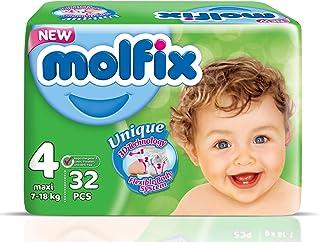 حفاضات بتقنية ثلاثية الابعاد للاطفال ماكسي من مولفيكس، 32 قطعة - مقاس 4