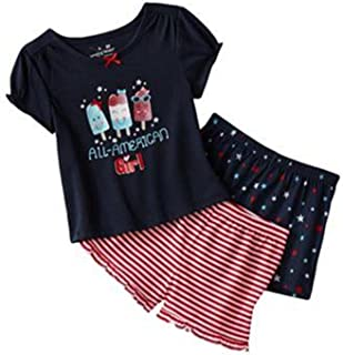 Jumping Beans Little Girls All-American Girl Pajama Set