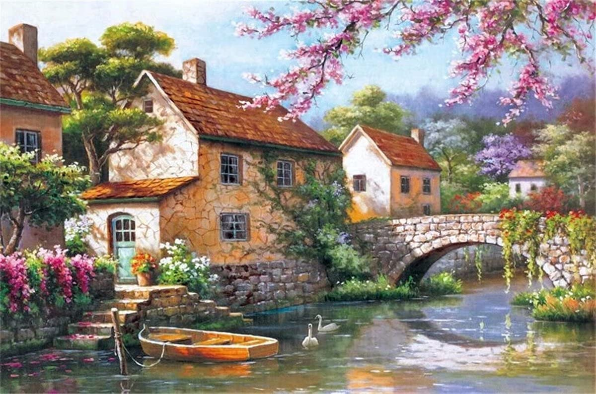 Wooden Jigsaw 5 ☆ very popular Puzzles 3000 Pieces Puzzle Creek - -Village latest