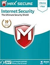 Max Secure Internet Security Platinum | 1 PC 1 Year | Windows | Code emailed in 2 Hrs
