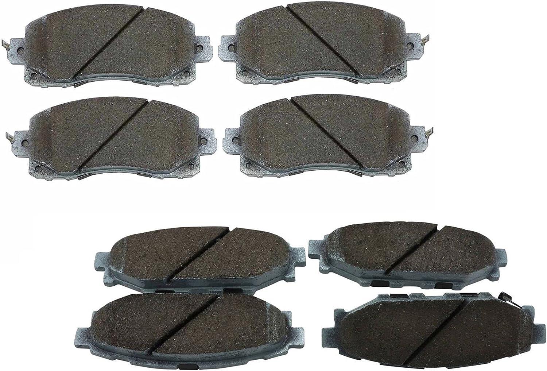 Beck-Arnley Ceramic Front Rear ラッピング無料 数量限定 Brake Pads kit Compatible Set w