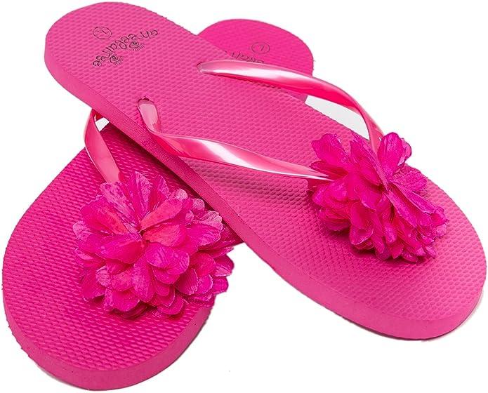 Casual Slippers Sandals Mens Beach Flip Flops Red Roses Floral Flowers Flip Flops Womens
