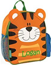 Monogrammed Me Personalized Mini Sidekick Backpack, Orange Tiger, with Embroidered Name