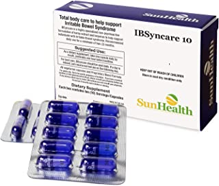 IBSyncare 10: Daily Use for Irritable Bowel Syndrome Patients (10 Capsules/Box, use one Capsule/Day)