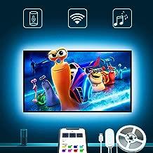 TV LED Backlights, Govee 9.8Ft LED Strip Lights Works with Alexa Google Home for 46-55in..