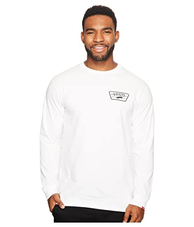 Vans Full Patch Back Long Sleeve Tee (White) Men
