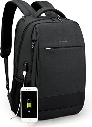 TIGERNU Slim Laptop Backpack Anti Theft Waterproof Mochila Rucksack with USB Charging Port Travel Business School