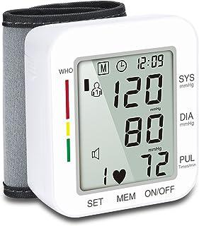 LTLGHY Tensiómetro De Muñeca, Tensiómetro De Brazo Digital con Detección De Arrítmia Y Pantalla Gran Pantalla LCD, 2 Memorias De Usuario(2 * 99)