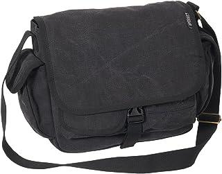 Everest - Bolso bandolera de lona para equipaje, Negro, Una talla