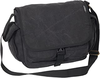 Everest Luggage Canvas Messenger, Black, Black, One Size