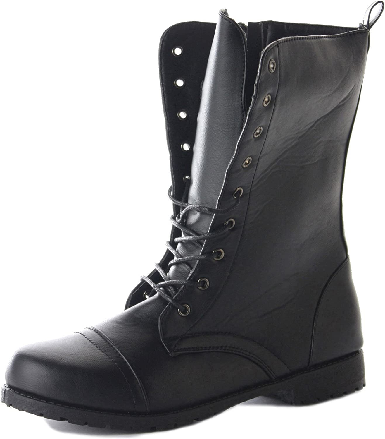 Womens Lace Up Ankle Combat Army Style
