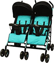 R for Rabbit Ginny and Johnny – Baby Twin Stroller and Pram Easy Foldable with Adjustable Seating Positions with Huge Stor...