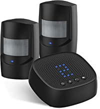 Driveway Alarm - Wireless PIR Motion Sensor & Outdoor Weather Resistant Detector, 36 Loud Chimes, Best DIY Home Security S...