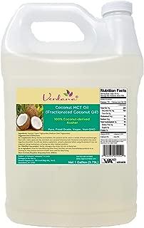 Verdana Coconut MCT Oil – Fractionated – Genuine 100% Coconut Derived– Kosher Certified Food Grade – Pure- Vegan – Non GMO– Used for Keto, Paleo, Sports Nutrition, Aromatherapy, Massage – (1 Gallon)