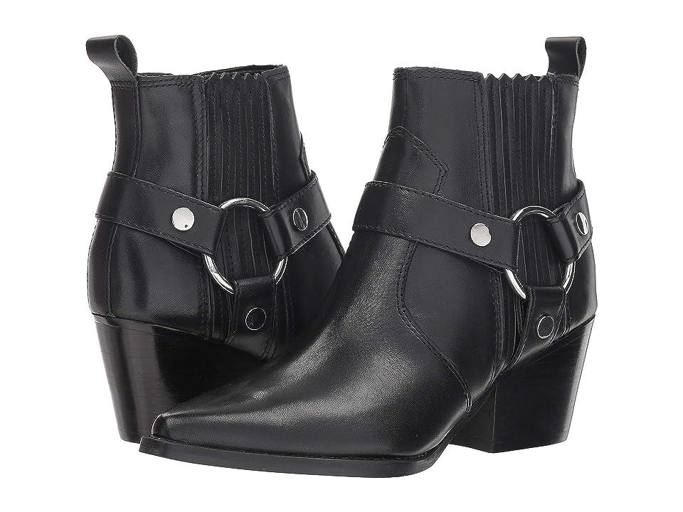 Marc Fisher LTD Halie Bootie (Black Leather) Women