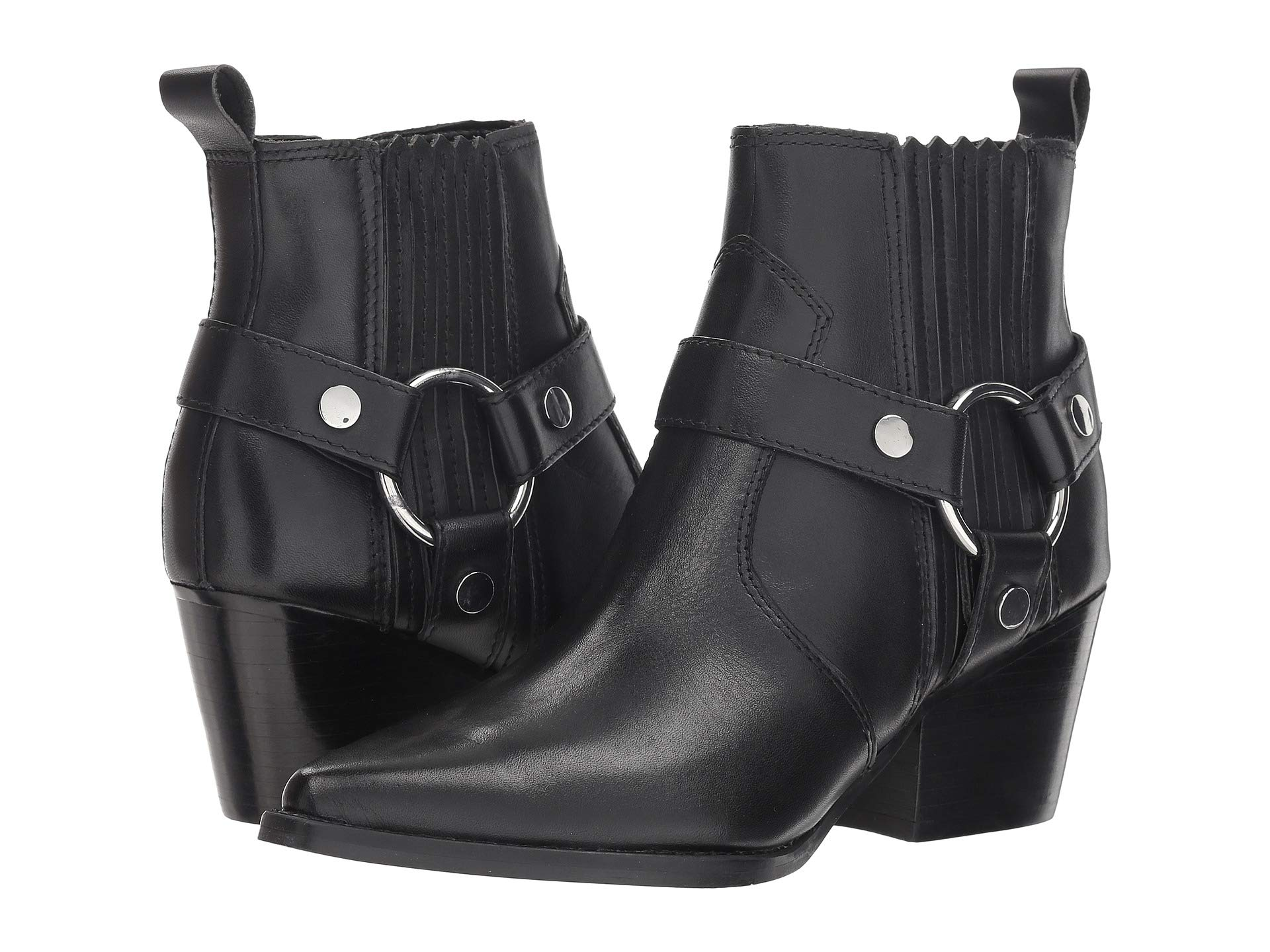 Halie Fisher Marc Leather Black Bootie Ltd BAEPgq