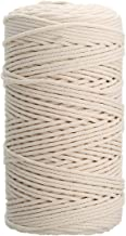 Gold Cloud 100% Natural Cotton Twisted Rope 1/25, 1/12, 1/8 inch Width 328, 656 Feet Length (3mm(1/8 Inch) 656 Feet)